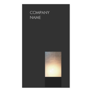 Cool Modern Zen Glow Minimalist Black Pack Of Standard Business Cards