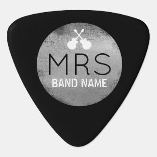 cool monogram with guitarist initials plectrum