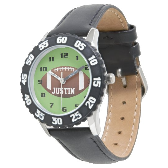 Cool Monogram with Name Football kids Watch
