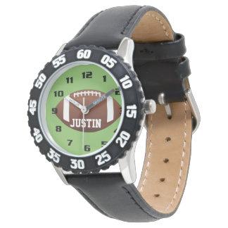 Cool Monogram with Name Football kids Wrist Watch