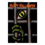 Cool monster Halloween card design