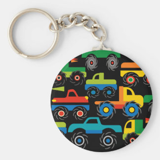 Cool Monsters Trucks Transportation Gifts for Boys Basic Round Button Key Ring