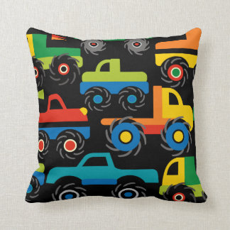 Cool Monsters Trucks Transportation Gifts for Boys Cushion