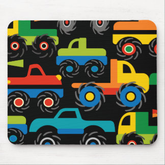 Cool Monsters Trucks Transportation Gifts for Boys Mouse Mat