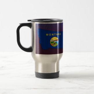 Cool Montana Flag Map Stainless Steel Travel Mug