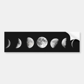 Cool Moon Phases Bumper Sticker
