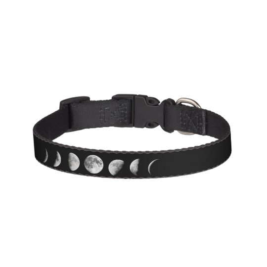 Cool Moon Phases Dog Collar