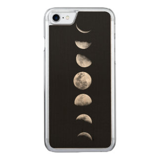 Cool Moon Phases iPhone 6 Wood Carved iPhone 8/7 Case