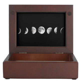 Cool Moon Phases Keepsake Box