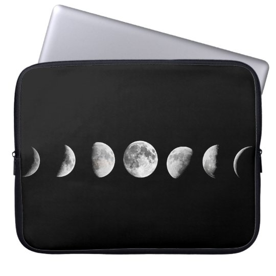 Cool Moon Phases Laptop Sleeve