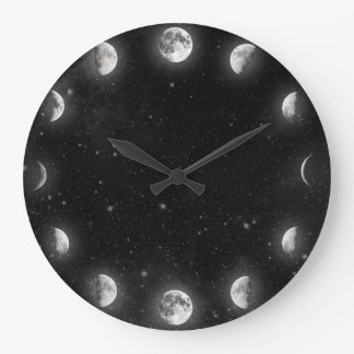 Cool Moon Phases Minimal Novelty Wall Clock