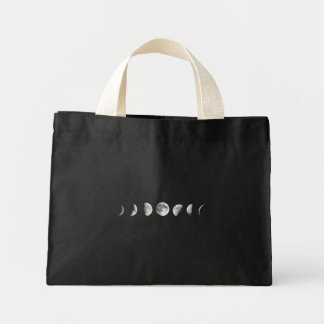 Cool Moon Phases Tote Mini Tote Bag
