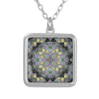 Cool Moonlight Lavender Mandala Necklace