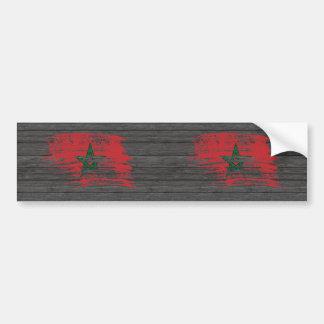 Cool Moroccan flag design Bumper Sticker