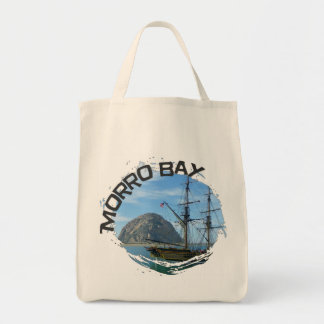 Cool Morro Bay Grocery Bag! Grocery Tote Bag