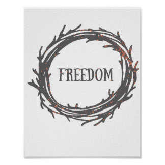Cool Motivational Quote FREEDOM Poster