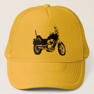 Cool motorcycle bike silhouette trucker hat