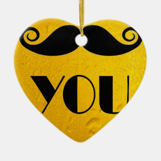 cool moustache on a beer effect image christmas ornament
