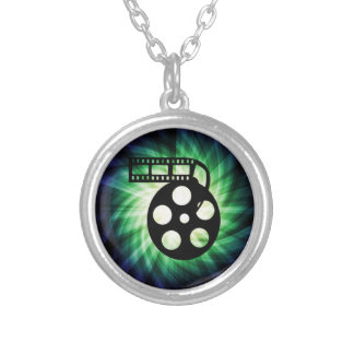 Cool Movie Film Reel Silver Plated Necklace