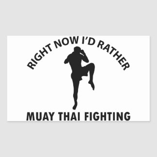 cool Muay thai designs Rectangle Stickers