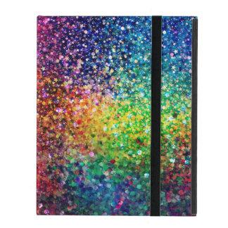 Cool Multicolor Retro Glitter & Sparkles Pattern 2 Case For iPad