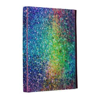Cool Multicolor Retro Glitter & Sparkles Pattern iPad Folio Cover
