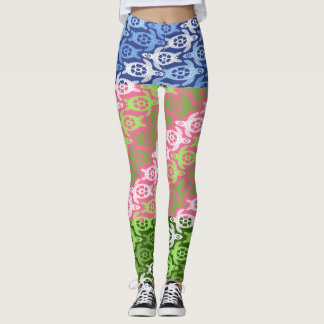 Cool Multicolored Hawaiian Sea Turtles Leggings