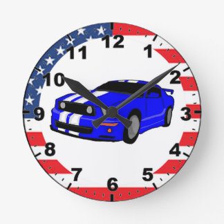 Cool Muscle car design wall clocks