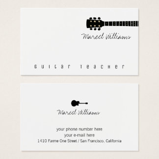 cool music business card for guitar teachers