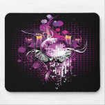 Cool Music Disco Ball and Speakers Mouse Pad