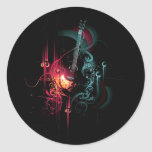 Cool Music Graphic with Guitar