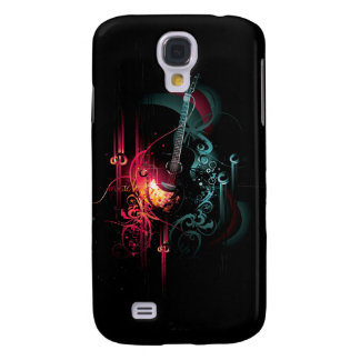 Cool Music Graphic with Guitar Galaxy S4 Case