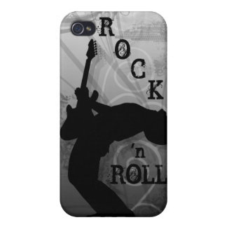 Cool Music Guitar Rock Grunge iPhone Cover silver iPhone 4 Cover