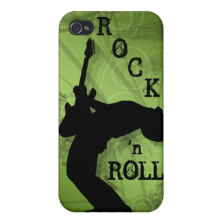 Cool Music Guitar Rock Grunge lime 2 iPhone 4 Cases