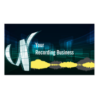 Cool Music Recording Studio Business Card