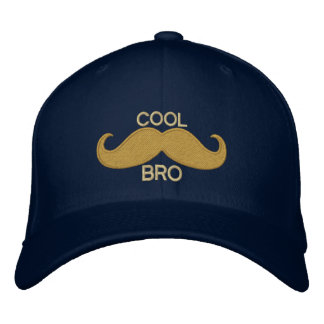 COOL Mustache BRO Embroidered Hat