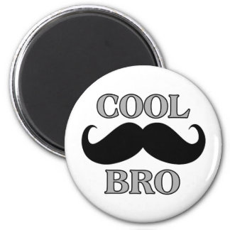 Cool Mustache Bro Refrigerator Magnets