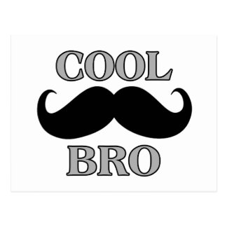 Cool Mustache Bro Postcard