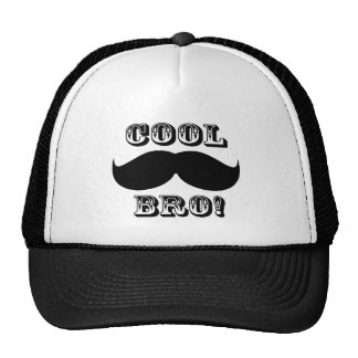 Cool Mustache Bro Trucker Hats