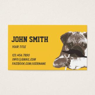 Cool Mustache Pug Business Card