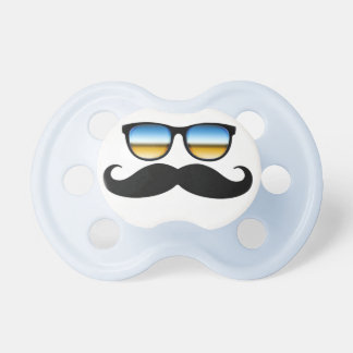 Cool Mustache under Shades Baby Pacifier