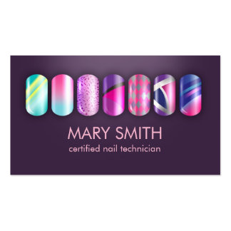 Cool Nail Tech & Manicurist Business Card Template