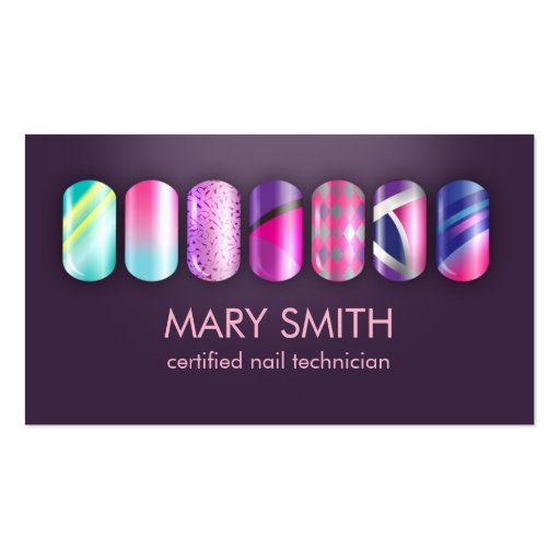 Create Your Own Nail Technician Business Cards