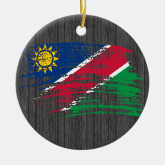 Cool Namibian flag design Round Ceramic Decoration