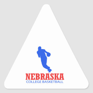 cool Nebraska basketball DESIGNS Triangle Sticker