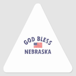 Cool Nebraska designs Triangle Sticker
