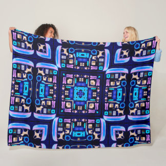 Cool Neon Camping Quilt Fleece Blanket