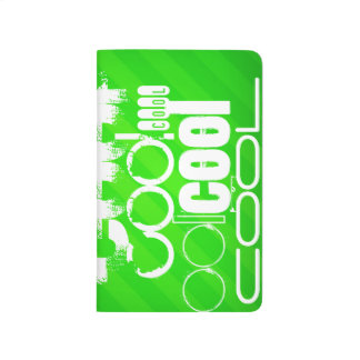 Cool; Neon Green Stripes Journal