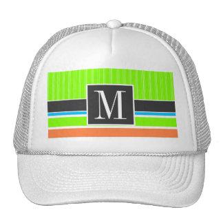 Cool Neon Stripes Striped Trucker Hat