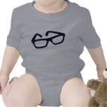 Cool Nerd Glasses in Black & White Baby Bodysuit